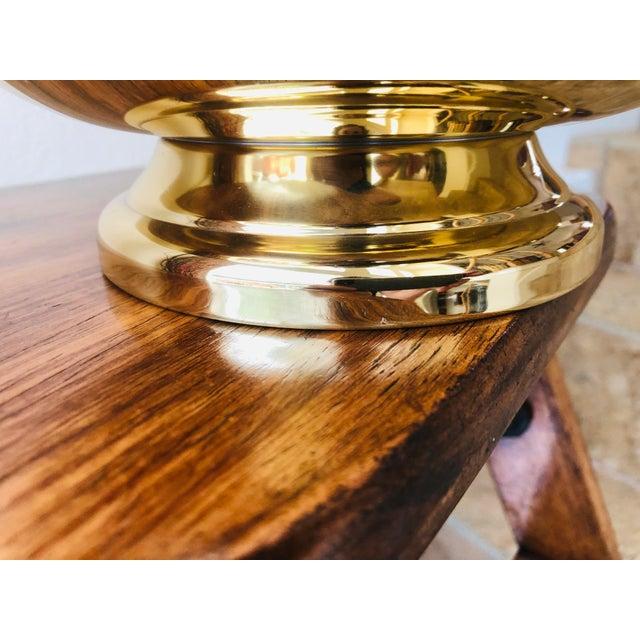 Metal Baldwin Revere Polished Brass Pedestal Bowl For Sale - Image 7 of 10