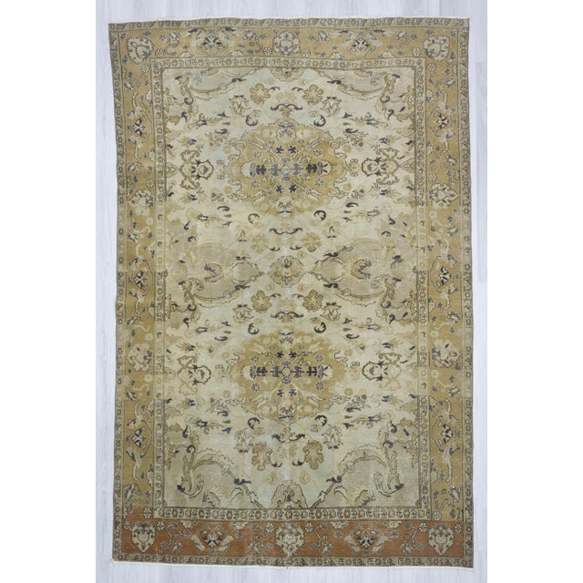 "Vintage Hand Knotted Turkish Area Rug - 6'5"" X 9'10"" - Image 2 of 6"