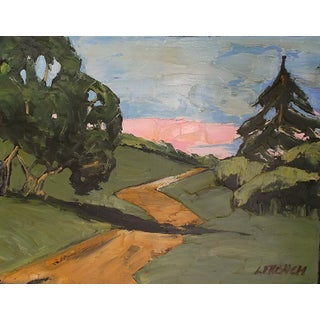 Lynne French Impressionist Inspired California Plein Air Landscape Painting For Sale