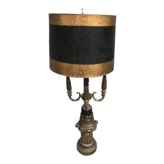 Vintage 1950s Brass Candelabra Lamp For Sale