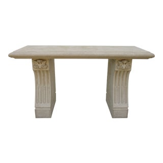 Cast Stone Console Table -Attributed to Kreiss Furniture For Sale