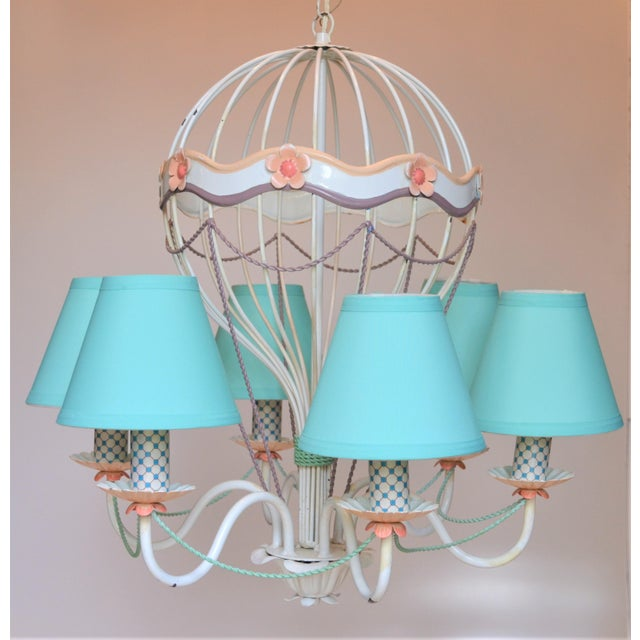 1960s Vintage Italian Tole Hot Air Balloon Chandelier For Sale - Image 12 of 12