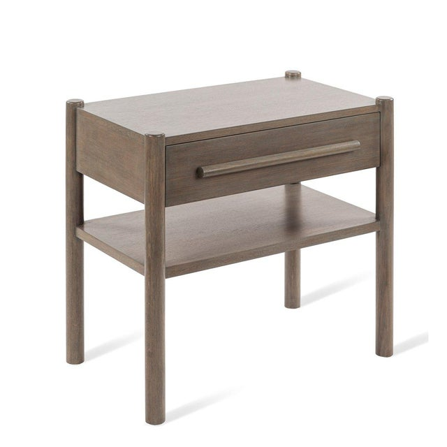 Lombardy Nightstand - Large in Gray For Sale In Greensboro - Image 6 of 6