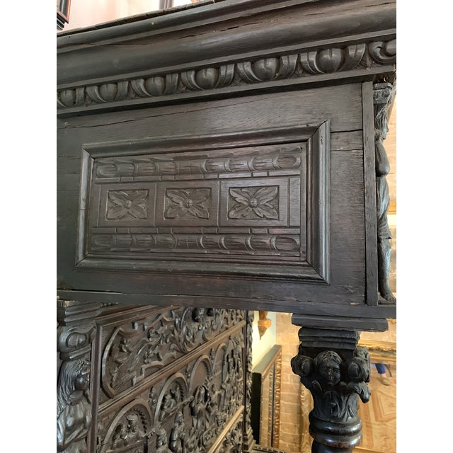 16th Century Antique High Gothic Pictorial Bench For Sale - Image 9 of 12