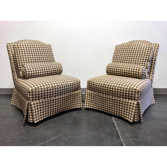 Theodore Alexander Althorp Living History Herringbone Slipper Chairs For Sale - Image 13 of 13