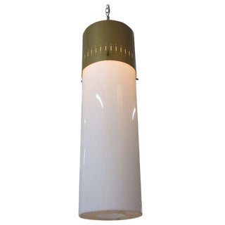 Mid-Century Cylinder Pendant in Gold, Circa 1958 For Sale