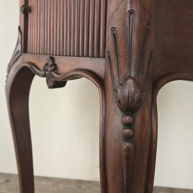 Wood Antique Country French Nightstand For Sale - Image 7 of 13