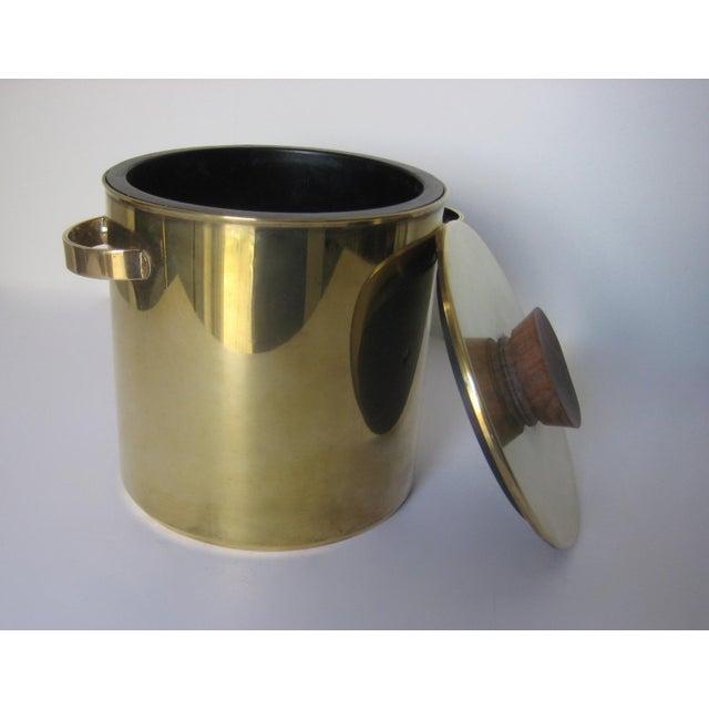 Mid-Century Italian Brass & Teak Ice Bucket - Image 7 of 13