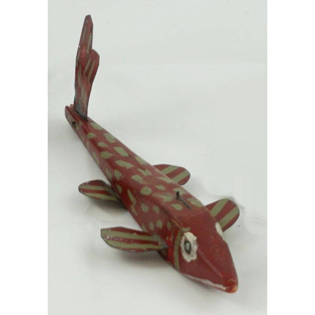 Hand Painted Folk Art Ice Fishing Decoys For Sale In Palm Springs - Image 6 of 9