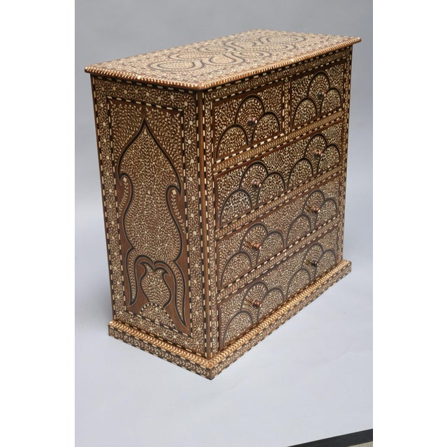 Asian Wood and Bone Inlay Chest of Drawers For Sale - Image 3 of 7