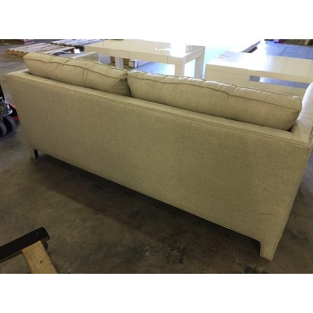 Contemporary Linen Sofa - Image 7 of 9