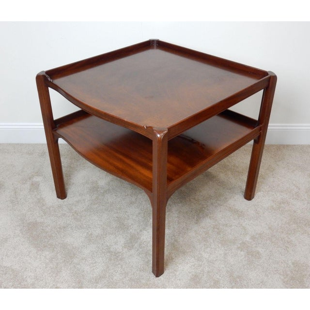 Baker Furniture Large 2 Tier Mahogany Table - Image 6 of 11