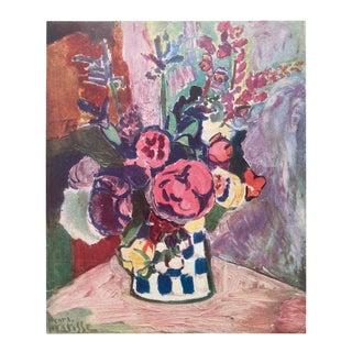 "Henri Matisse Vintage 1948 Fauvism Limited Edition French Fine Art Lithograph Print "" Vase De Fleurs "" 1907 For Sale"