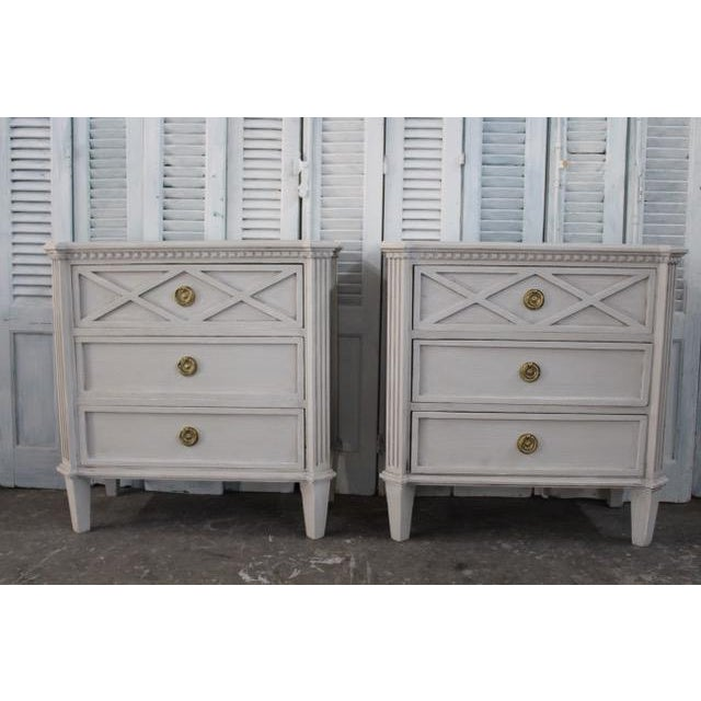 20th Century Swedish Gustavian Style Nightstands - A Pair For Sale - Image 11 of 11