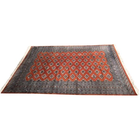 Red Rust/Cream Royal Bokhara Rug - 8′3″ × 11′3″ For Sale