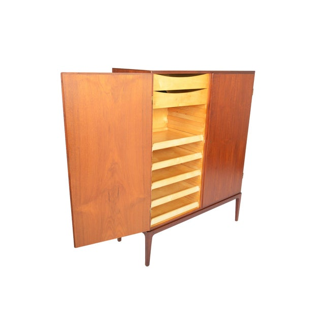Tall Danish Modern Teak Bureau - Image 6 of 10