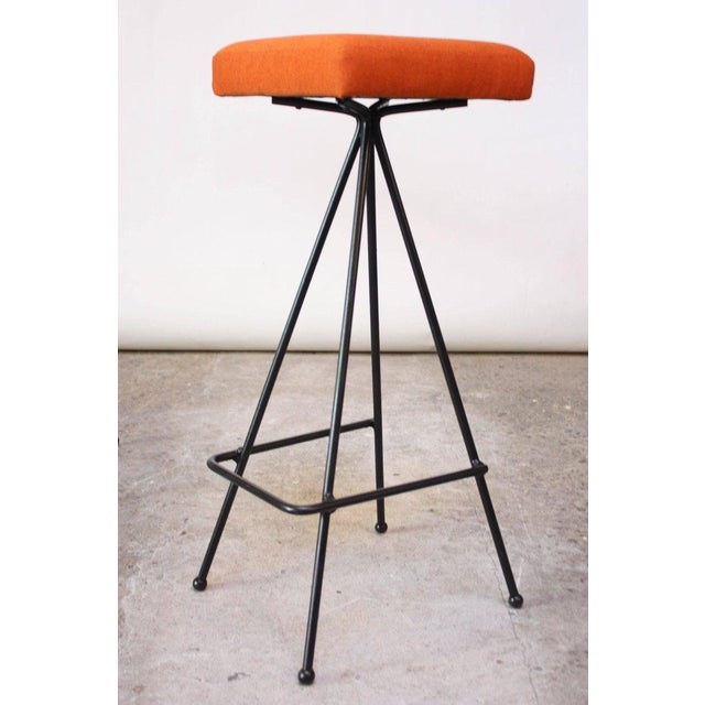 Set of Four Adrian Pearsall #11 Iron Barstools For Sale In New York - Image 6 of 11