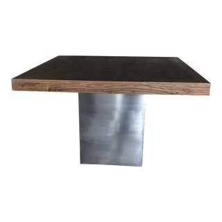 Reclaimed Elm & Stainless Steel Dining Table