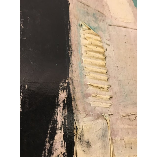 Abstract 1960s Vintage Abstract Painting by Graham Harmon For Sale - Image 3 of 6