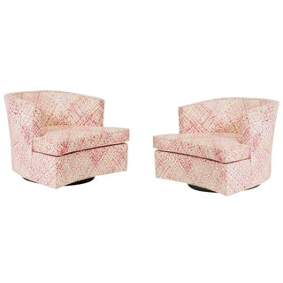 Harvey Probber Swivel Chairs - a Pair For Sale