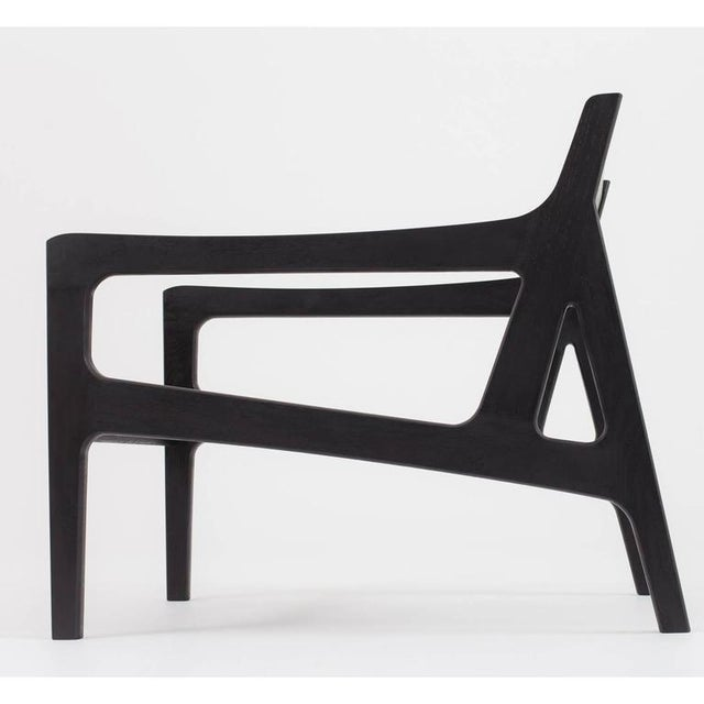 Contemporary Asa Pingree Pilar Lounge Chair in Ebonized Oak For Sale - Image 3 of 11
