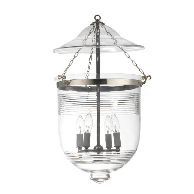 Bell Jar Hundi Lantern With Etching For Sale - Image 4 of 4