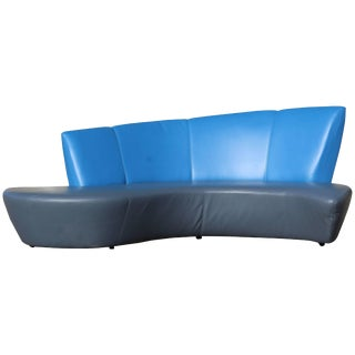 Mid-Century Modern Vladimir Kagan for Weiman Curved Bilboa Sofa, 1980s For Sale