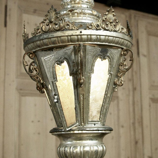 19th Century Venetian Silver Plated Brass Lantern Chandelier, Ca. 1850's For Sale In Baton Rouge - Image 6 of 8