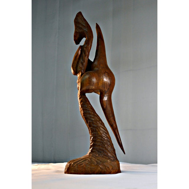 Wood Sculpture by Arthur Lutenbacher - Image 2 of 8