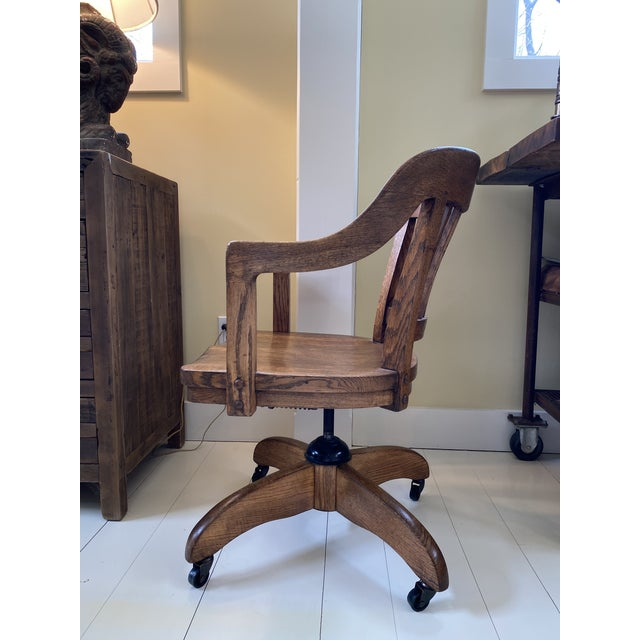 Mid 20th Century Classic Mid-Century Banker's Desk Chair For Sale - Image 5 of 7