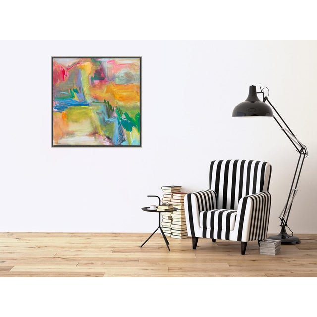 """""""Desert Rain"""" by Trixie Pitts Large Abstract Oil Painting For Sale In Nashville - Image 6 of 10"""
