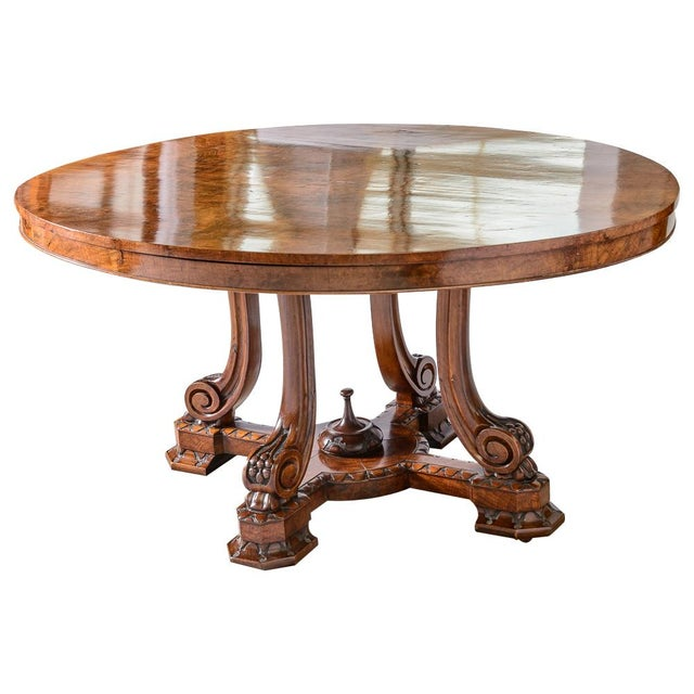 Brown English Oval Center Table For Sale - Image 8 of 8