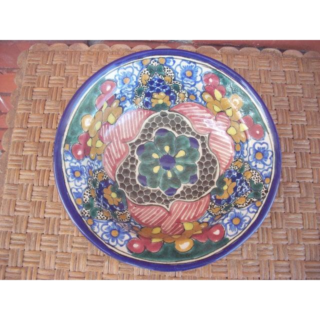 Vintage Mexican Talavera Bowl - Image 2 of 4