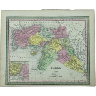 Map of Turkey & Constantinople by Cowperthwait, 1850 For Sale