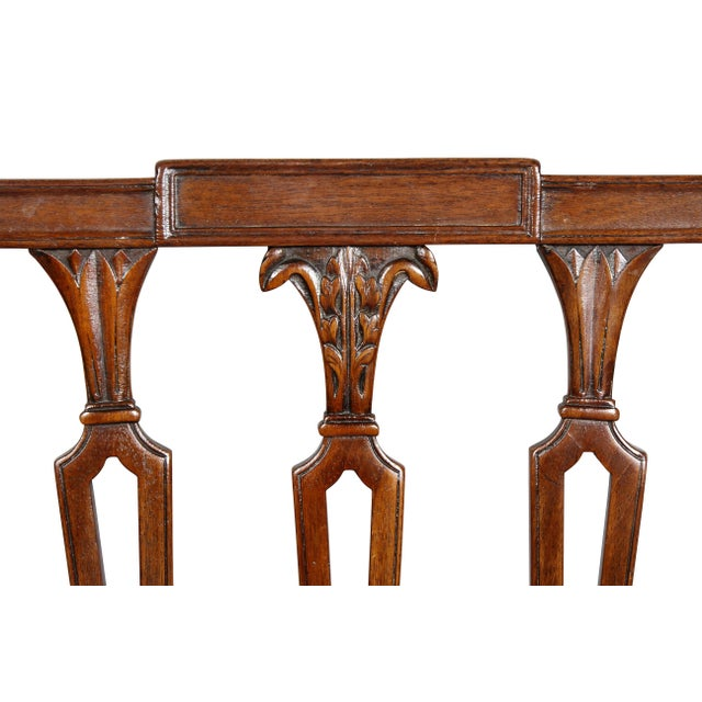 Late 18th Century Federal Mahogany Side Chairs - Set of 4 For Sale - Image 5 of 10