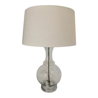 Robert Abbey Clear Glass Table Lamp For Sale