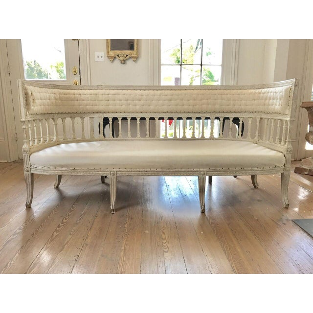 Gustavian Klismos Settee attributed Ephraim Stahl, circa 1800 For Sale - Image 9 of 9