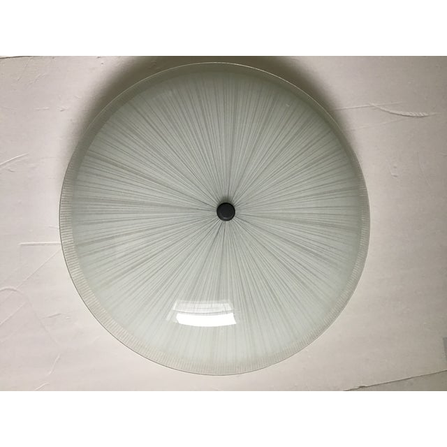 Glass 20th Century Lightolier Ceiling Light Shade Fixture For Sale - Image 7 of 9