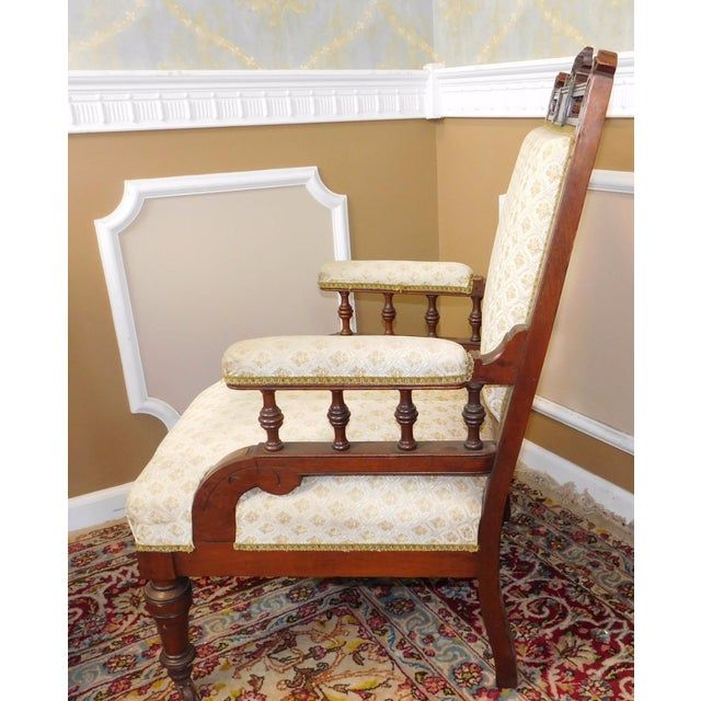 His & Her Victorian Renaissance Chairs - Pair - Image 8 of 11