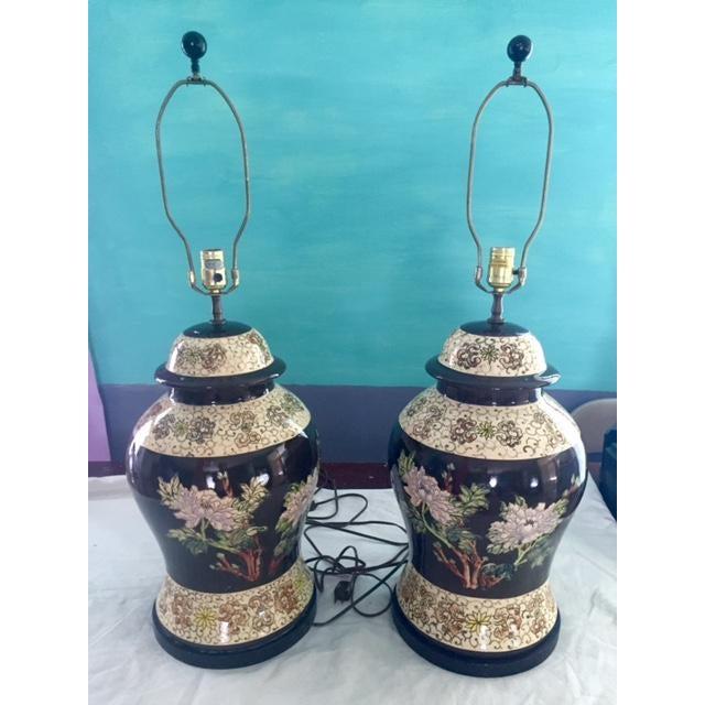 Vintage Ginger Jar Lamps - A Pair - Image 2 of 9