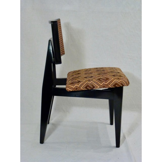 A Handsome Cane Back Side Chair Designed By George Nelson For Herman Miller. Hand Rubbed Black Lacquer Finish with Natural...