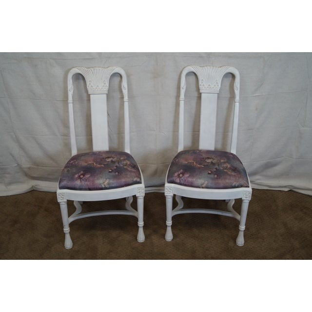 Whitewash Dining Chairs - Set of 10 - Image 2 of 10