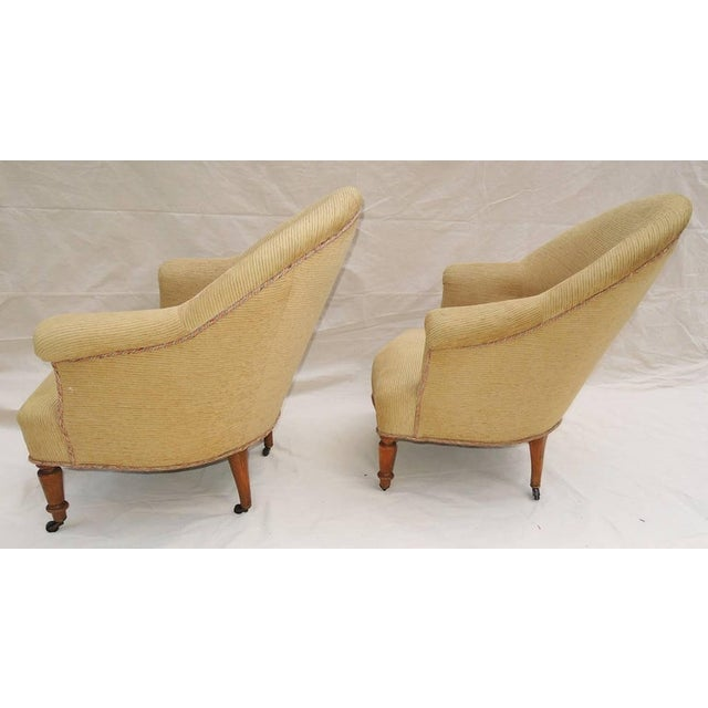 French Pair of Napoleon III Armchairs For Sale - Image 3 of 8