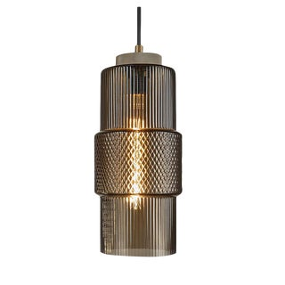 Laguna Pendant With Knurled Detailing - Mocca Colour For Sale