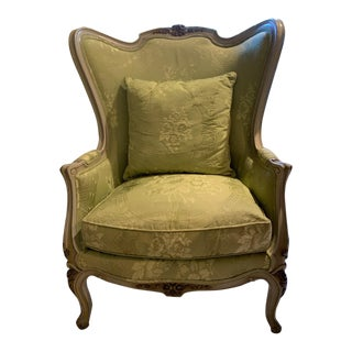 1940s Louis XV French Bergere Chair For Sale