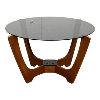 "1970s Mid-Century Danish Modern ""Luna"" Floating Cocktail Table by Odd Knutsen For Sale"