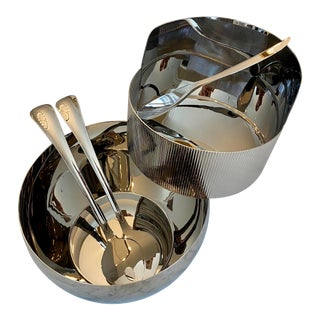 Georg Jensen Contemporary Serving Collection, 4-Piece Set For Sale