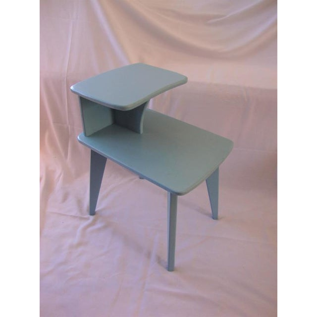 Retro Duck Blue Side Tables - A Pair - Image 6 of 6