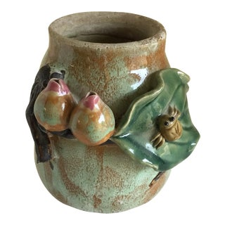 1970s Asian Majolica Style Pottery Plant Vessel For Sale