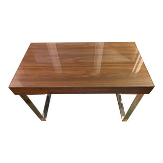 Modern YLiving Houston Walnut-Colored Writing Desk For Sale